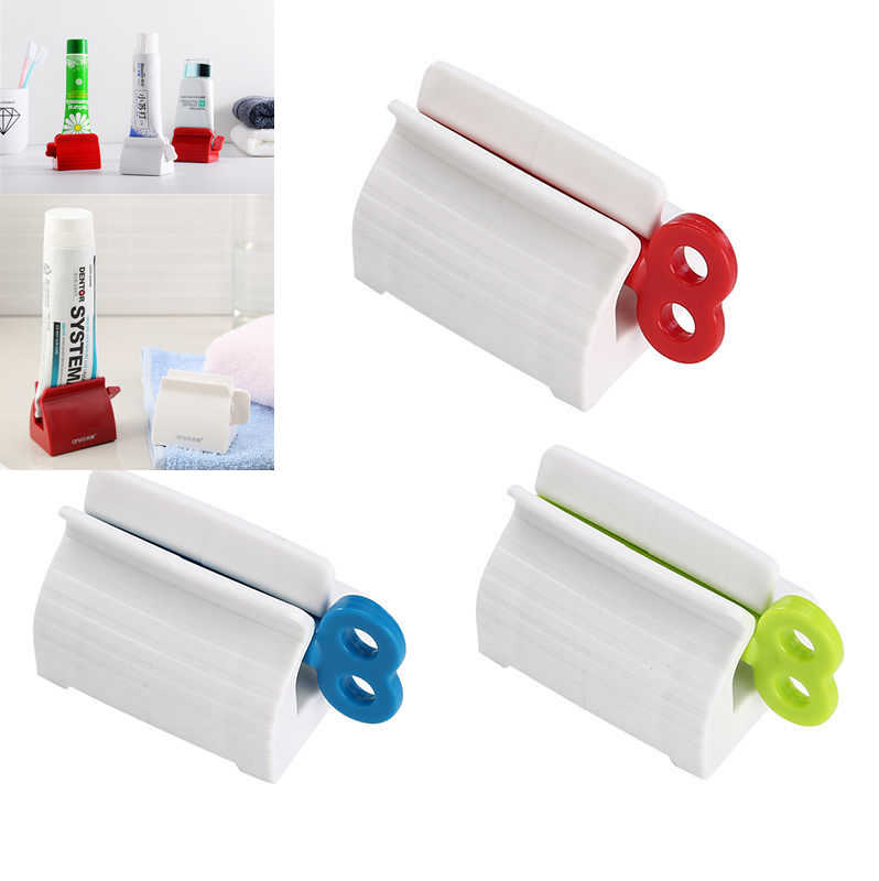 Kids New Toothpaste Tube Squeezer Dispenser Tool Cream Rolling Bathroom Holder