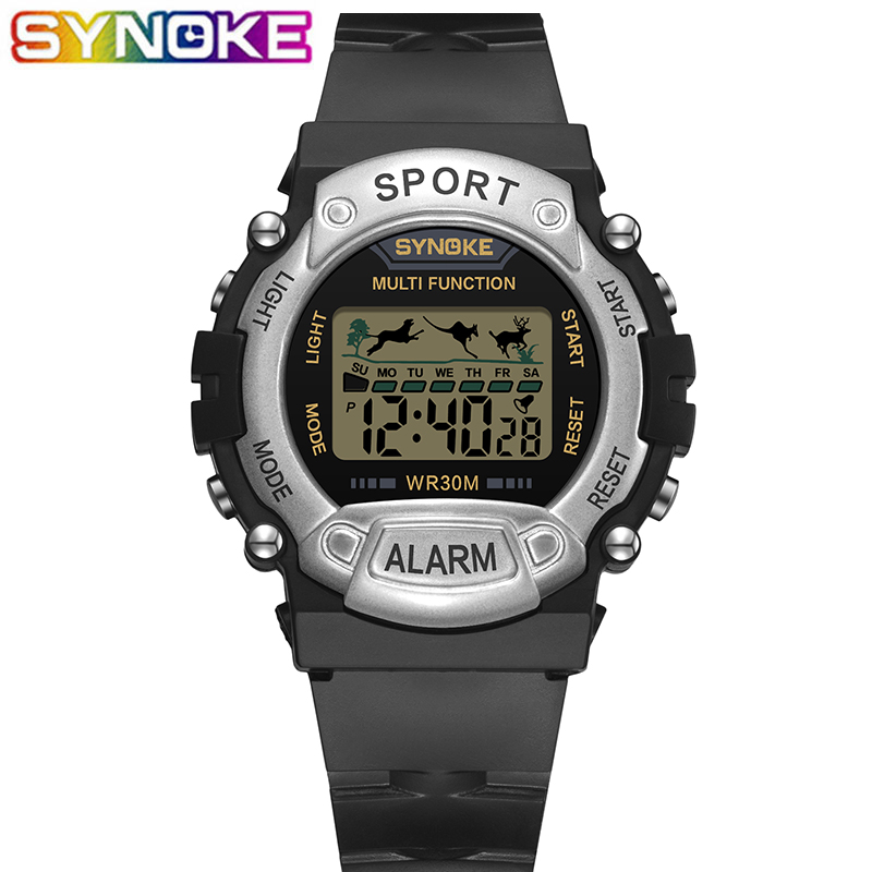 SYNOKE Sports Children Digital Watches LED Waterproof Colorful Multi Function Stop Watch Alarm Clocks Wrist Watch For Boys Girls