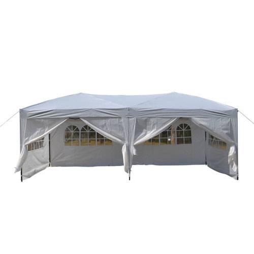3 x 6m Four Windows Practical Waterproof Folding Tent Black