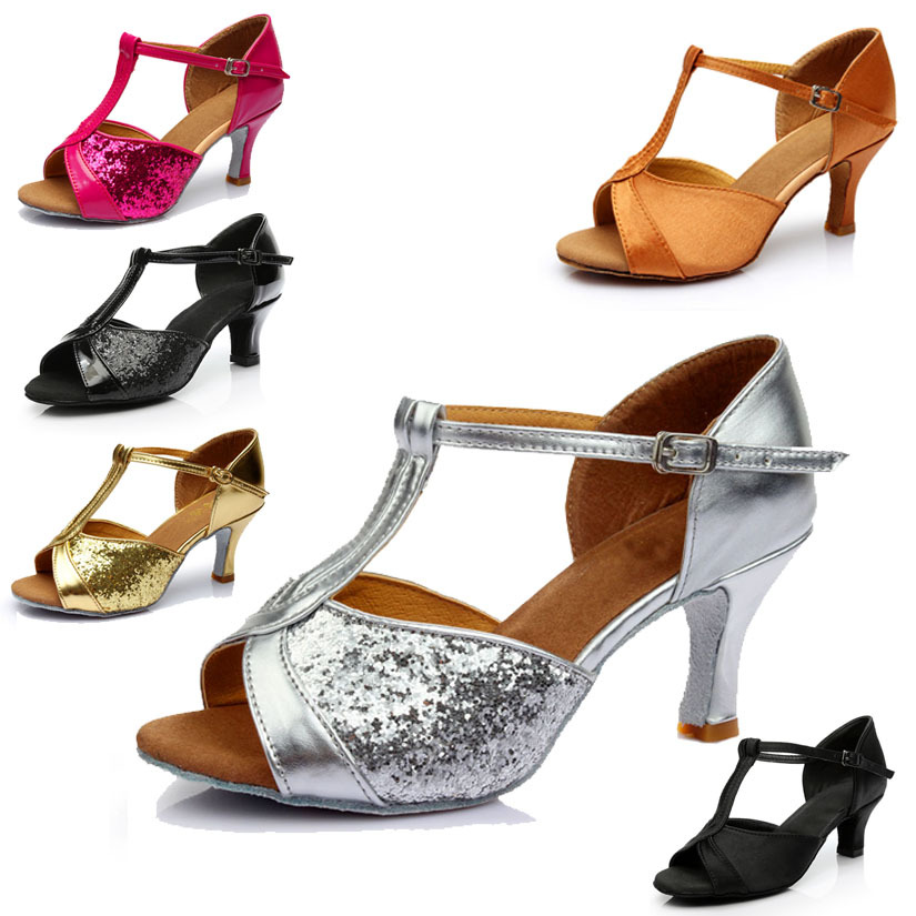 Manufacturers Direct Selling Women's New Style Adult Latin Dance Shoe High-Heel High Quality Satin Soft-Sole Dance Shoes A Gener