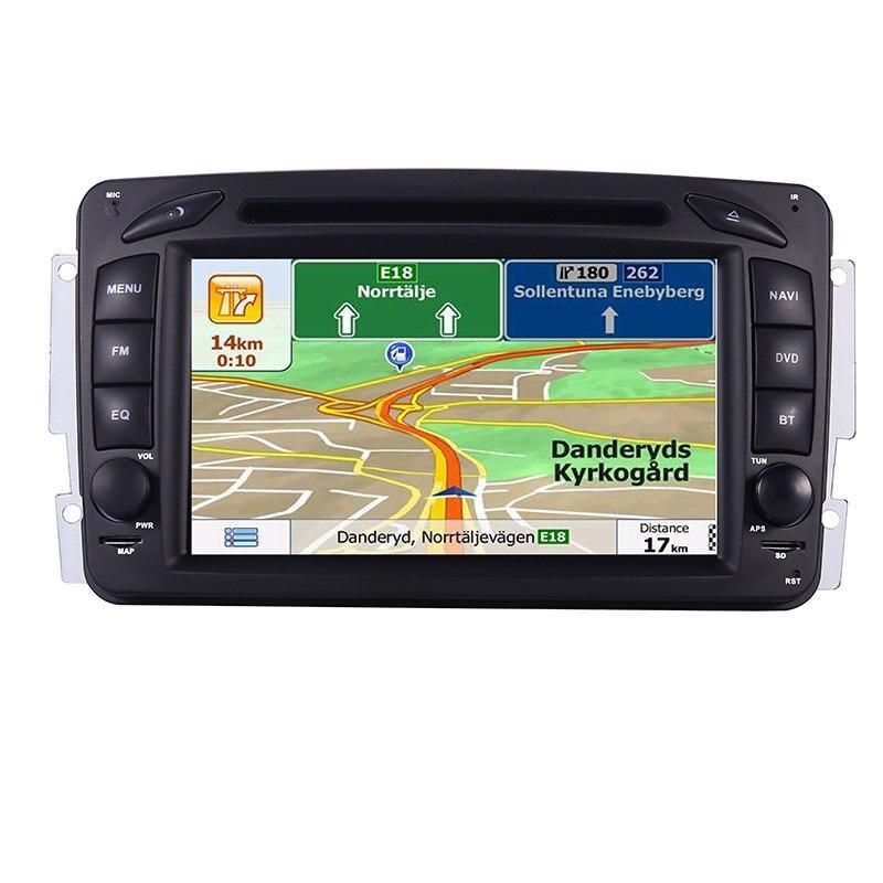 Image 4 - مشغل دي في دي 2din 7 بوصة لسيارة مرسيدس بنز CLK W209 W203 W208 W463 الجيل الثالث 3g GPS نظام ستيريو راديو السيارة الوسائط المتعددة نافيمشغل وسائط السيارةالسيارات والدراجات النارية -