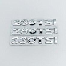1pcs 3D 230TSI 280TSI 330TSI car stickers emblem decal styling for Volkswagen Golf Jetta Passat Lamando SAGITAR MAGOTA