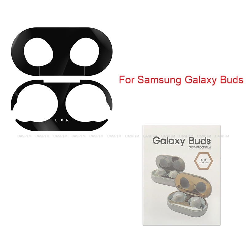 Metal Dust Sticker For Samsung Galaxy Bud Earphone Protective Sticker Case Skin Protector For Galaxy Bud Protective Accessories
