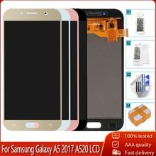ЖК-экран качества AAA для SAMSUNG GALAXY A5 2017 A520 A520F A520K, ЖК-дисплей 100% протестированный, сенсорный экран с дигитайзером в сборе