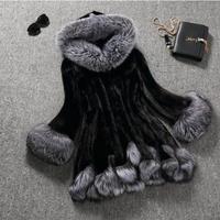 2019 autumn and winter new women's faux fur coat trumpet sleeves long water velvet fox fur grass female coat plus Large size 6XL