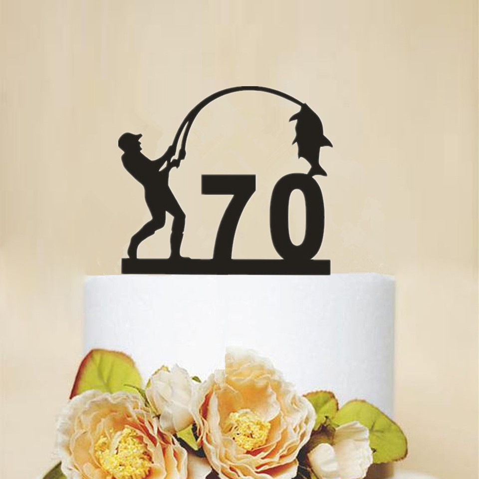 Remarkable New 70Th Birthday Cake Topper Unique Fishing 70 Years Birthday Funny Birthday Cards Online Aboleapandamsfinfo