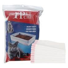 5 pieces drawstring cat disposable litter bag,cat litter box lined with waste bag cat litter bags