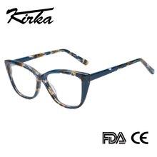 Kirka Cat Eye Frame Eyeglass Women Frame Acetate Clear Fashion Glasses Frame Optical Women Reading Glasses Eyeglasses Myopia