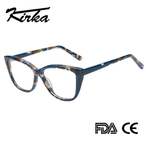Image 1 - Kirka Cat Eye Frame Eyeglass Women Frame Acetate Clear Fashion Glasses Frame Optical Women Reading Glasses Eyeglasses Myopia