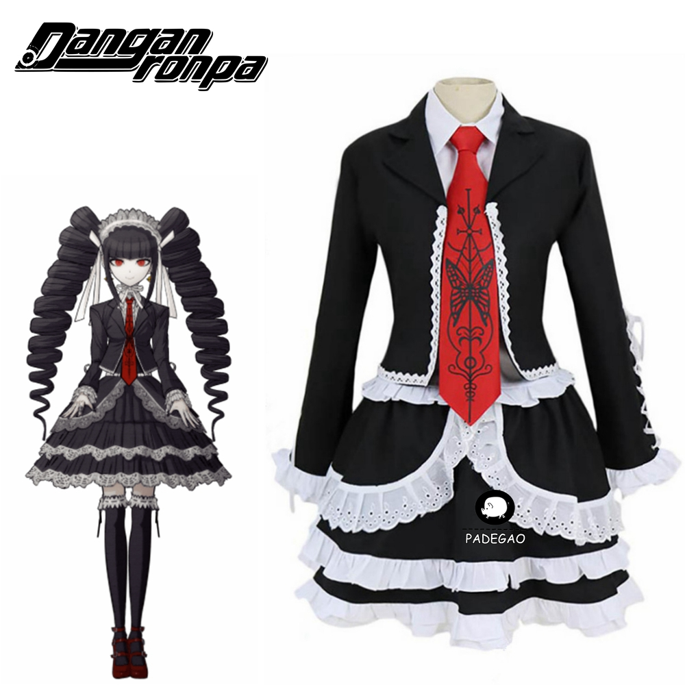 Danganronpa Dangan Ronpa Celestia Ludenberg Cosplay Costume Fancy Custom Made Halloween Costumes Cosplay Wig Free Shipping