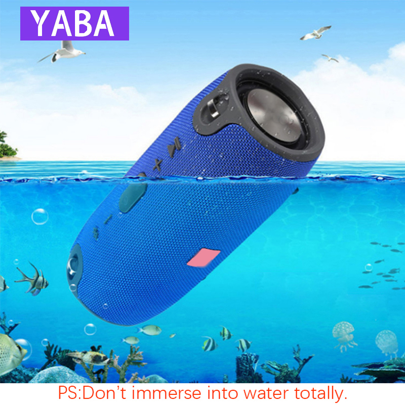 YABA 40W Bluetooth Speaker Subwoofer TWS Outdoor  Speaker Waterproof Portable Music Player Battery Column Soundbar Caixa De