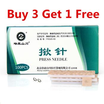 100 sztuk naciśnij igły igła do akupunktury ucha jednorazowe chińska terapia akupunkturą dla uszu 0 22*1 5mm tanie i dobre opinie RROZZ 100pcs box