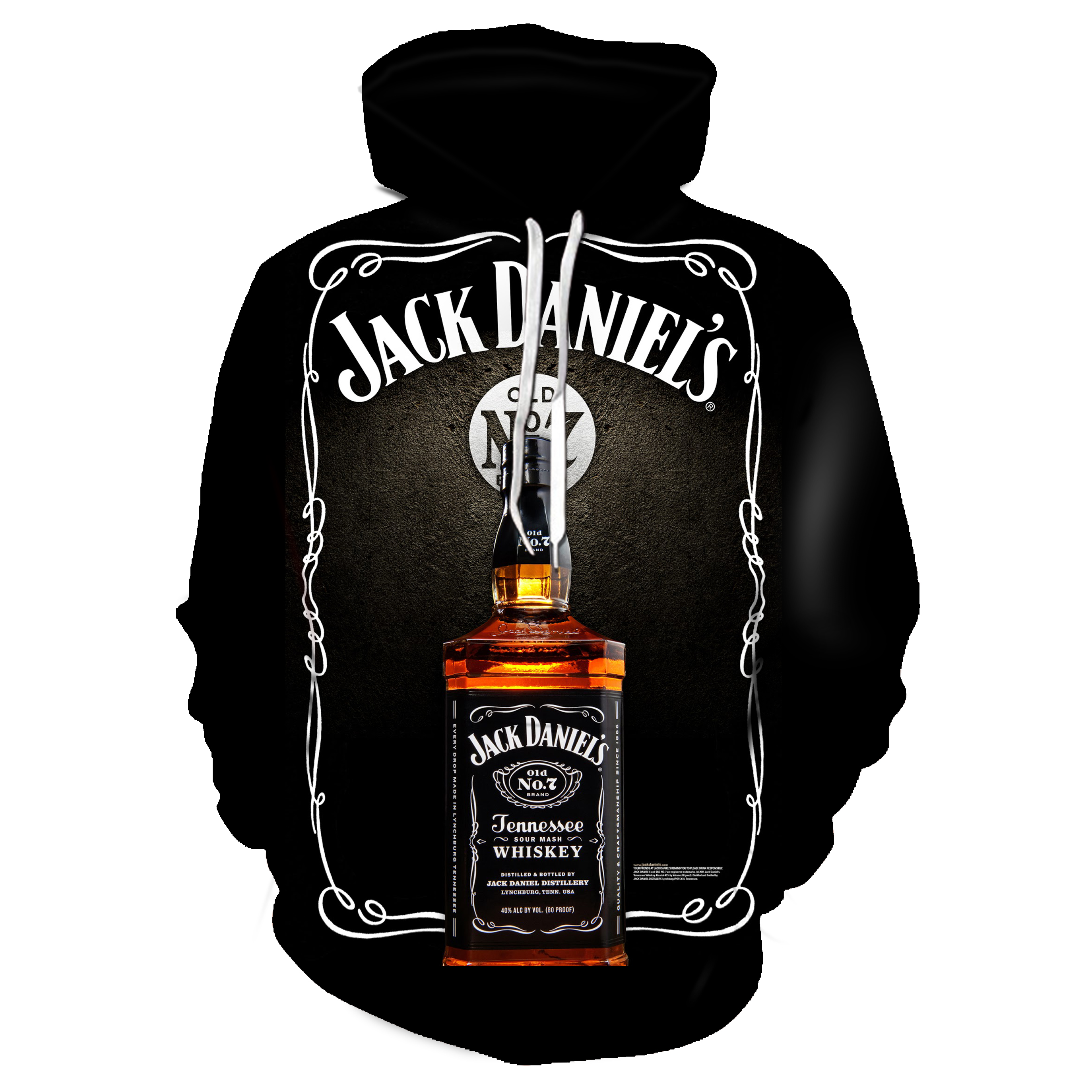 Black Whiskey Wine Men's Hoodie Men's Printed Hoodie Sweatshirts Casual LongSleeve Sport Harajuku Clothing