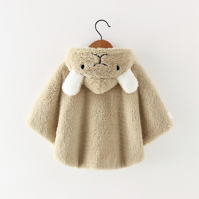 Милая осенняя одежда для новорожденных девочек; пальто с капюшоном и рисунком; плащ; двухслойная куртка; милый зимний комбинезон; верхняя одежда
