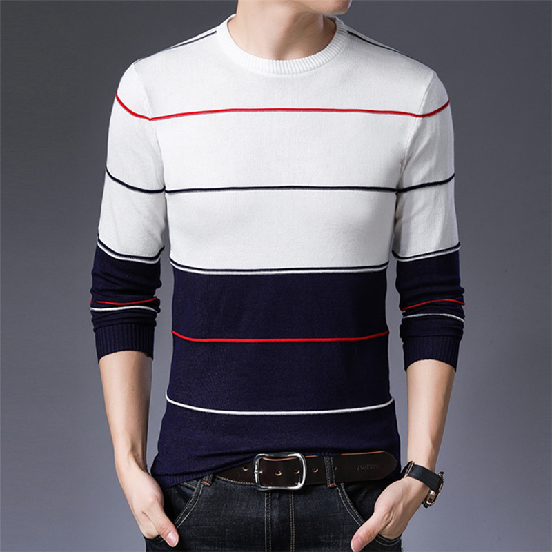 2019 Men Sweaters Autumn Winter Fashion Casual Slim Fit Cotton Knitted Mens Sweaters Pullovers Men Brand Clothing Knitwear S-3XL