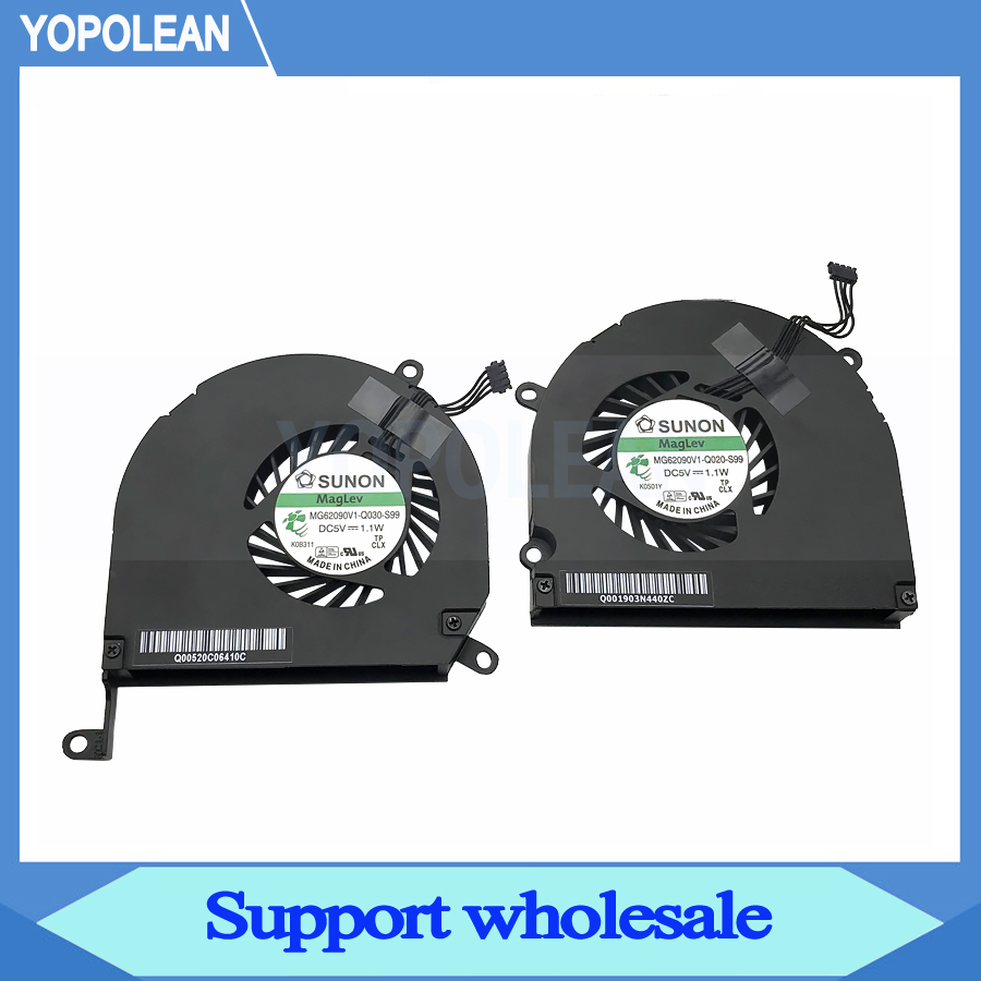Left + Right Green Label CPU Cooler Cooling Fan For Macbook Pro 15″ A1286 2008 2009 2010 2011 2012 Years