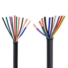 RVV czarny kabel 20AWG 0 5MM 2 rdzeń 3 rdzeń 4 rdzeń 5 core 6 rdzeń 7 core 8 core 10 rdzeń 12 rdzeń 16 rdzeń 20 sterowania przewód sygnałowy tanie tanio CN (pochodzenie) Miedzi RVV black cable Stranded Podziemne Izolowane
