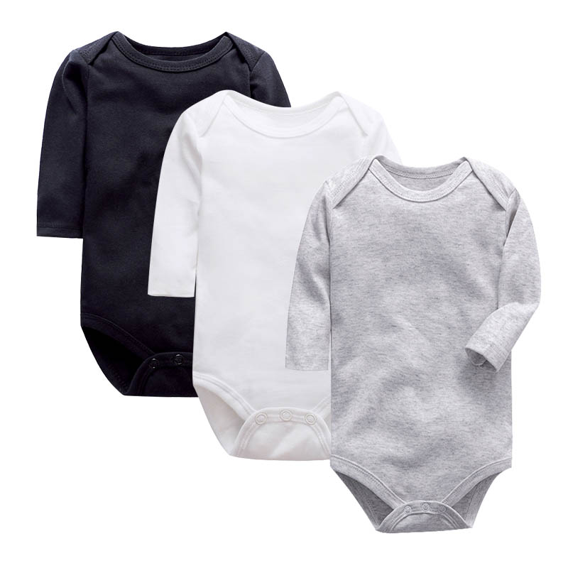 1 Pieces Newborn Bodysuits Baby Babies Black Short Sleeve Unisex 100%cotton 0-24 Months Infant Clothes
