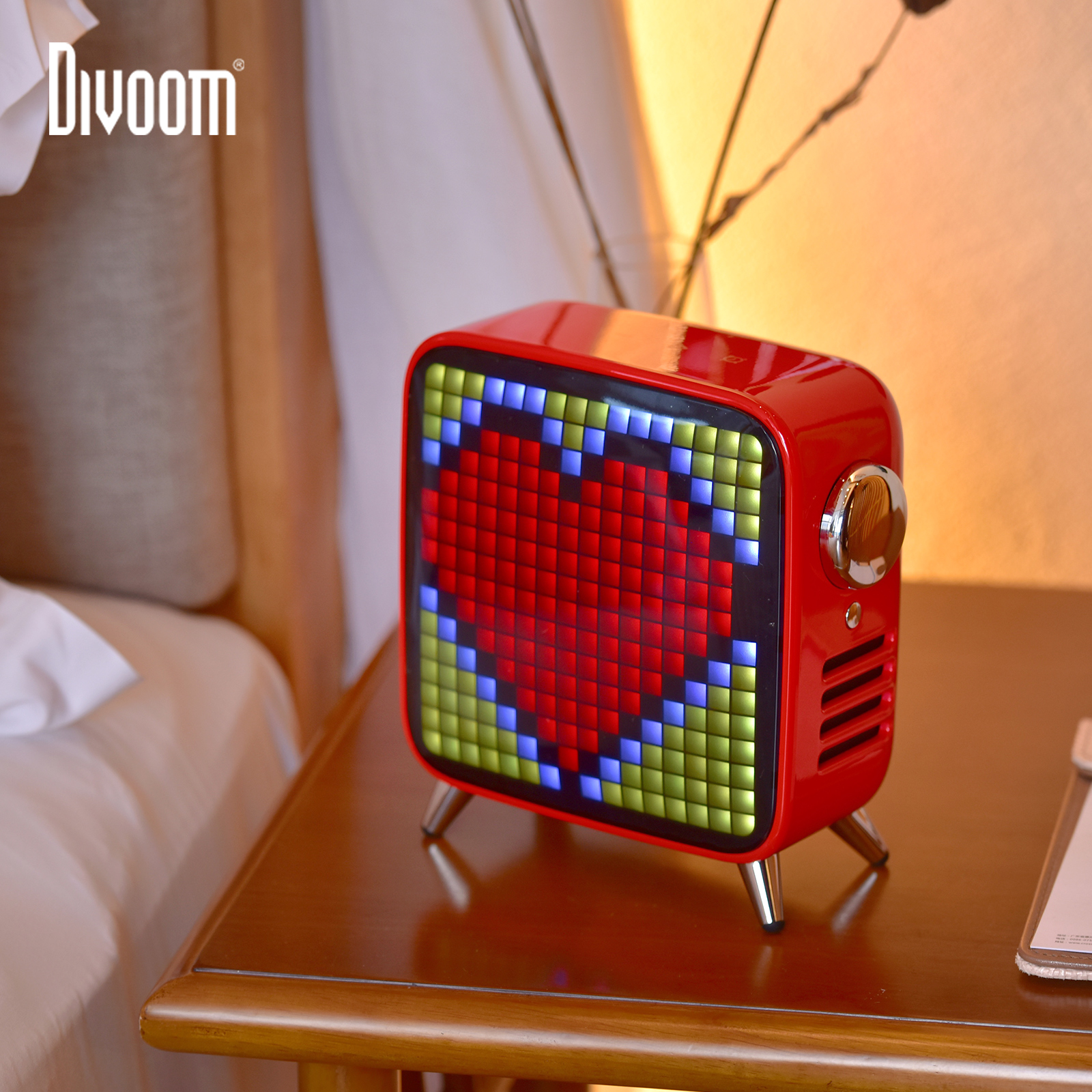 Divoom Tivoo Max Pixel Art Bluetooth Wireless Speaker with 2.1 Audio System 40W Output Heavy Bass App control for IOS & AndroidPortable Speakers   -