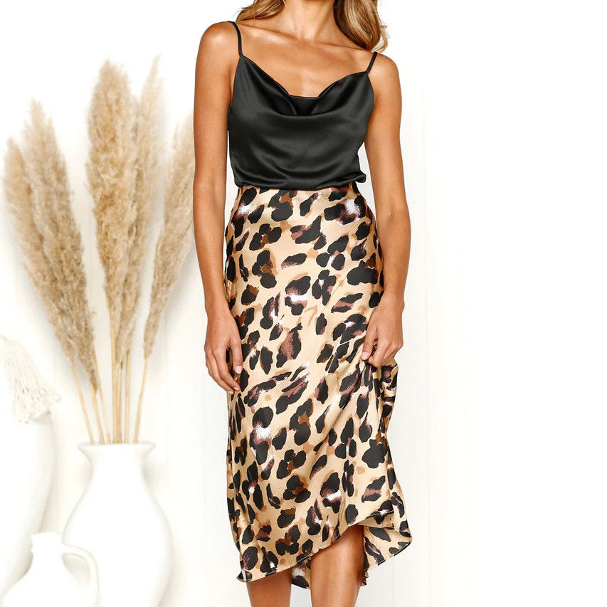Brand New Lasies Women Midi Bodycon Pencil Office Party Printed High Waist Stretch Skirt