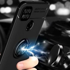 Image 4 - Luxe Armor Ring Case Voor Xiaomi Redmi 9 9A 9C Magnetische Auto Houder Stand Cover Voor Redmi Note 9 S 9 S 8 Pro 10X 8T K20 K30 Coque