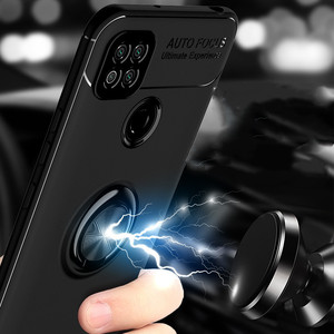 Image 4 - Luxury Armor Ring Case For Xiaomi Redmi 9 9A 9C Magnetic Car Holder Stand Cover For Redmi Note 9s 9 S 8 Pro 10X 8T K20 K30 Coque