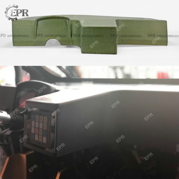Carbon Fiber/Yellow Kelvar Universal Competition Racing Dash Cover (154 x 90cm)