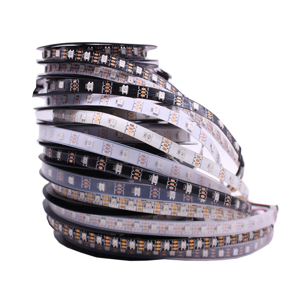 Individually Addressable 1m  5m Waterproof Ip65 Ip67 5050 Rgb 30 60 144 Led/m 5v Ws2811 Ws2812 Ws2812b Led Strip