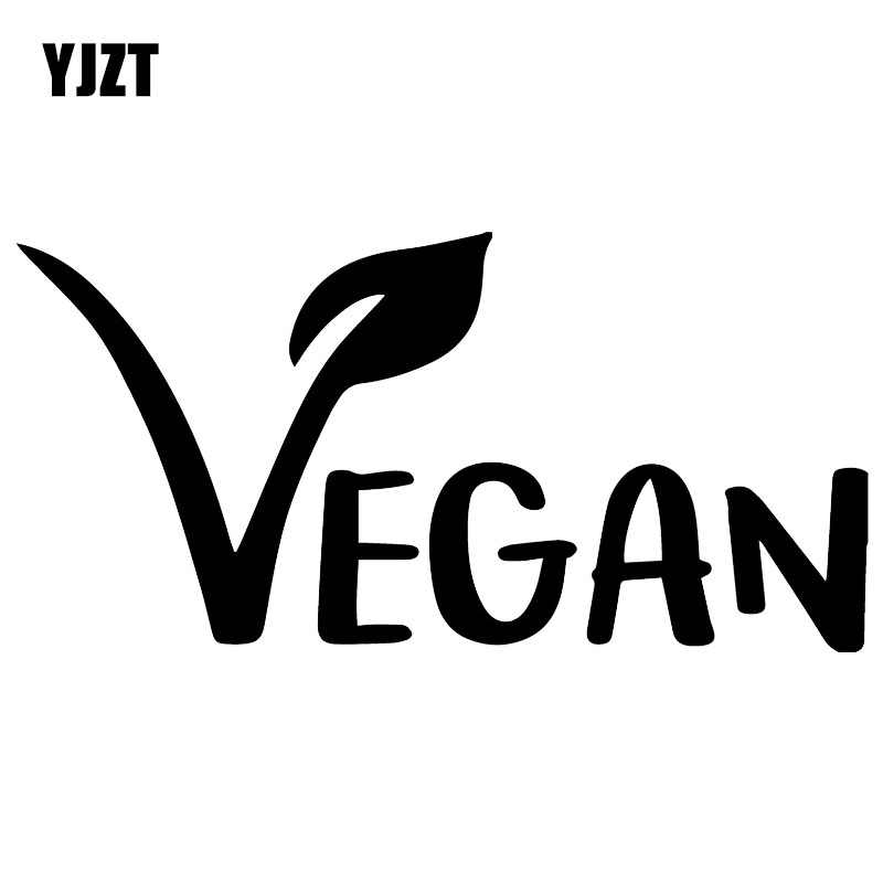 YJZT 16X7.9CM Vegan Plant Cover Scratches Decal Car Sticker Window Decoration Accessories C25-0355
