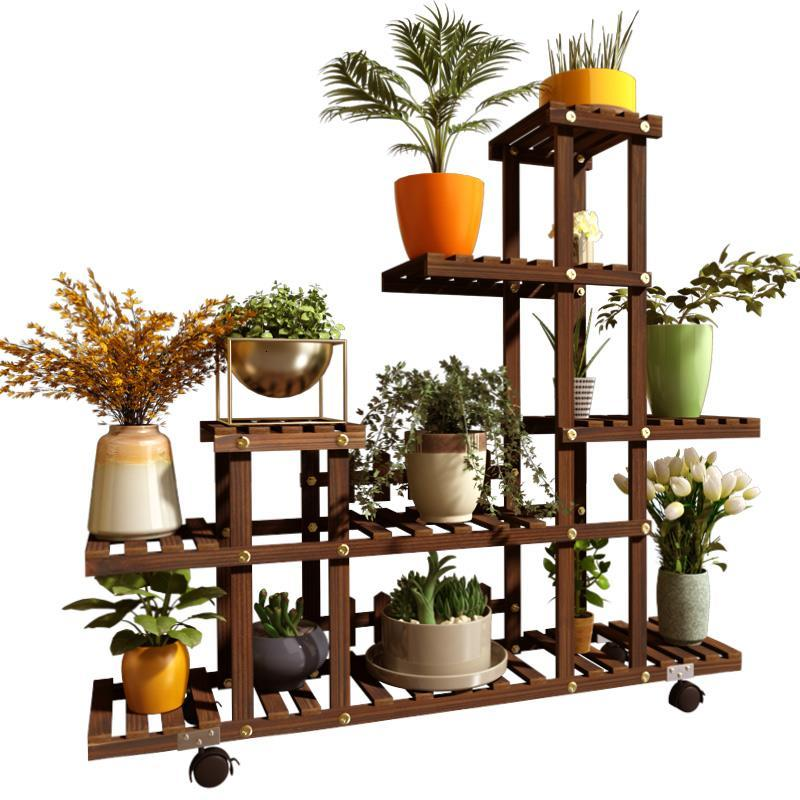Flores Wooden Shelves For Para Indoor Pot Table Estanteria Plantas Stojak Na Kwiaty Outdoor Stand Balcony Flower Plant Shelf