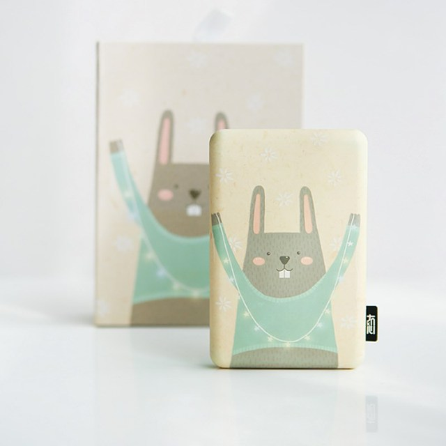 Liberfeel Maoxin mini power bank 8000mah with bag and charing cable finger ring holder cute cartoon panda bear phone accessories 4