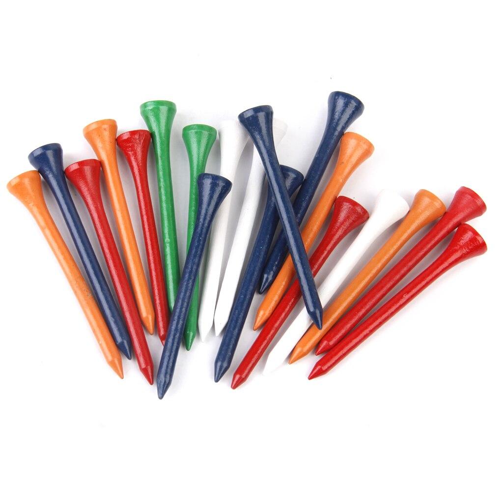 200pcs/lot Colorful Wood Golf Tees Training Tools 83mm Length
