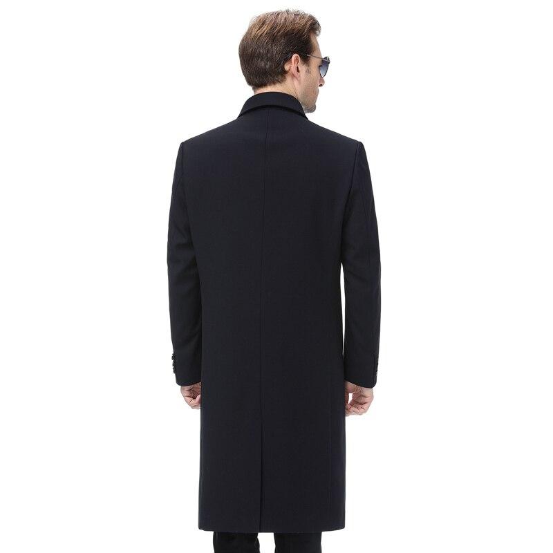 Grande taille 5xl 2019 hommes veste manteau longue Section mode Trench manteau hommes coupe vent marque décontracté Fit pardessus veste d'extérieur - 4