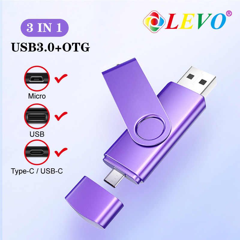 Nieuwe Stijlen Otg Usb 3.0 Usb Flash Drives Pen Drive Voor Type C Android 8 Gb 16 Gb 32 Gb 64 Gb 128 Gb Externe Opslag 3 In 1 Pendrive