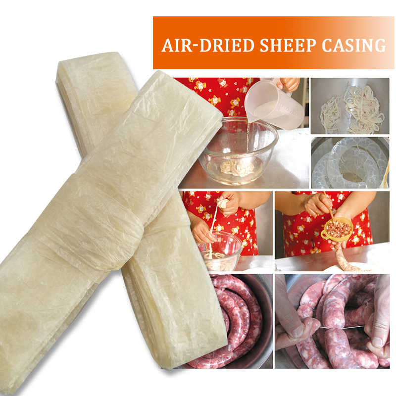Dry Sheep Casing Diameter 28mm-30mm Natural Sheep Sausage Cover, Sausage Skin, Kitchen Sausage Packaging Tools