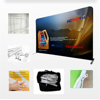 Portable Quick Show Fabric Poster Advertising Hanging Chart Popup Tradeshow Banner Display Stands Straight with Printing 1 Set
