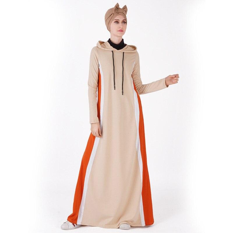 Robes à capuche femme coton Dubai caftan Robe musulmane vêtements islamiques pour femmes Burka multicolore caftan Robe turque Abaya Robe