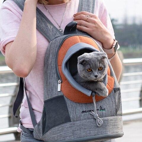 Eco-amigável ao ar Mochila para o Cão de Estimação Cão de Estimação Gato Bolsa Livre Transportadora Viagem Gaiola Segurança Respirável Frente Mochila para o Malha Pet