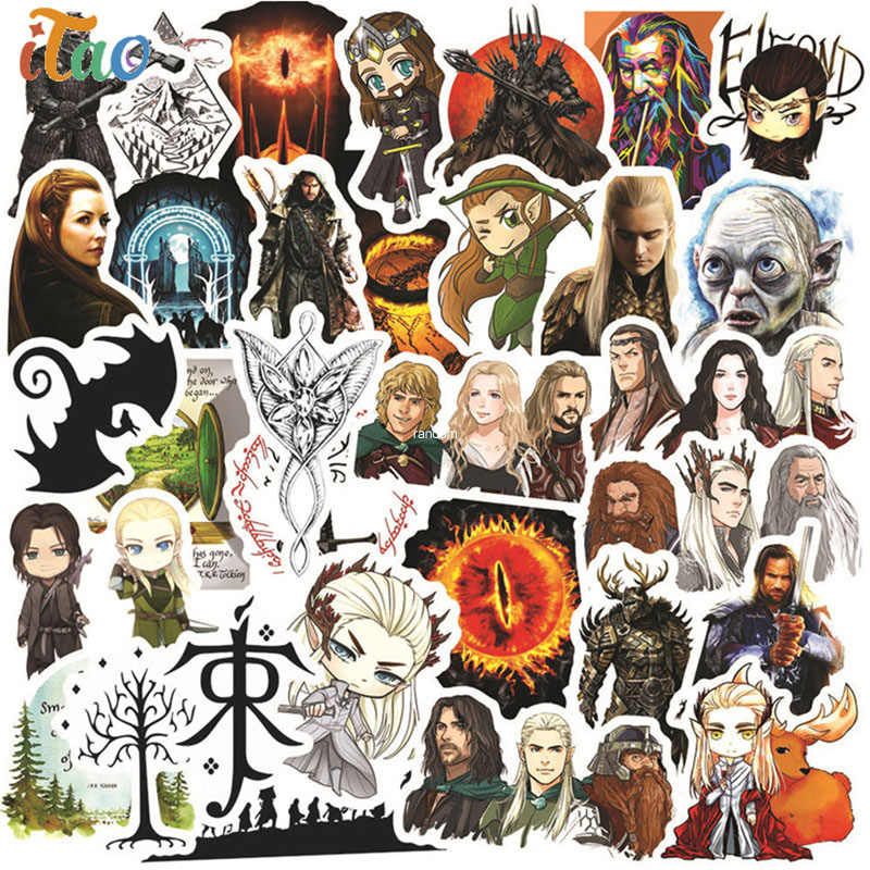 10/20/30/40/50 Pcs Movie De Hobbit Stickers Waterdicht Skateboard Decal Gitaar Bagage Motorfiets laptop Cool Sticker Kinderen Speelgoed