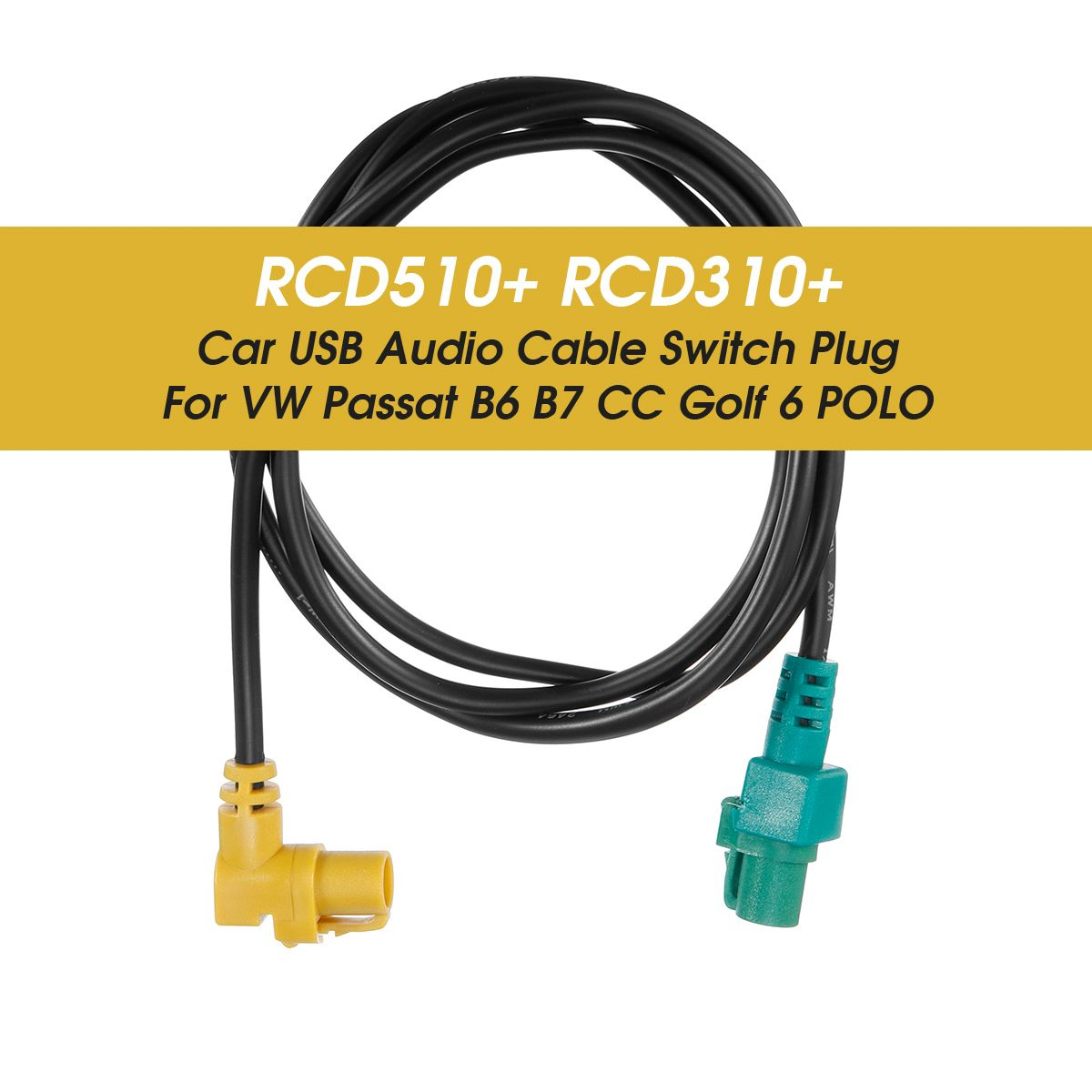 RCD510+ RCD310+ Car <font><b>USB</b></font> Audio Cable Switch Plug Adapter Kit for VW for Passat B6 B7 CC <font><b>Golf</b></font> <font><b>6</b></font> for POLO image