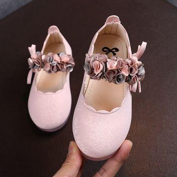 Dzieci dziewczęce sandały księżniczka Party taniec buty dziewczęce styl jesienny księżniczka buty z duże kwiatowe koronkowe wiosenne dziecięce buty tanie i dobre opinie RUBBER 25-36m 3-6y CN (pochodzenie) Wiosna i jesień Kobiet Pasuje prawda na wymiar weź swój normalny rozmiar Mieszkanie z