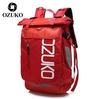 OZUKO Unisex Casual Rucksack Sport Rucksäcke für Männer Reise Laptop Tasche Pack Mann Schulranzen Große Kapazität Männlichen Wasserdichte Taschen