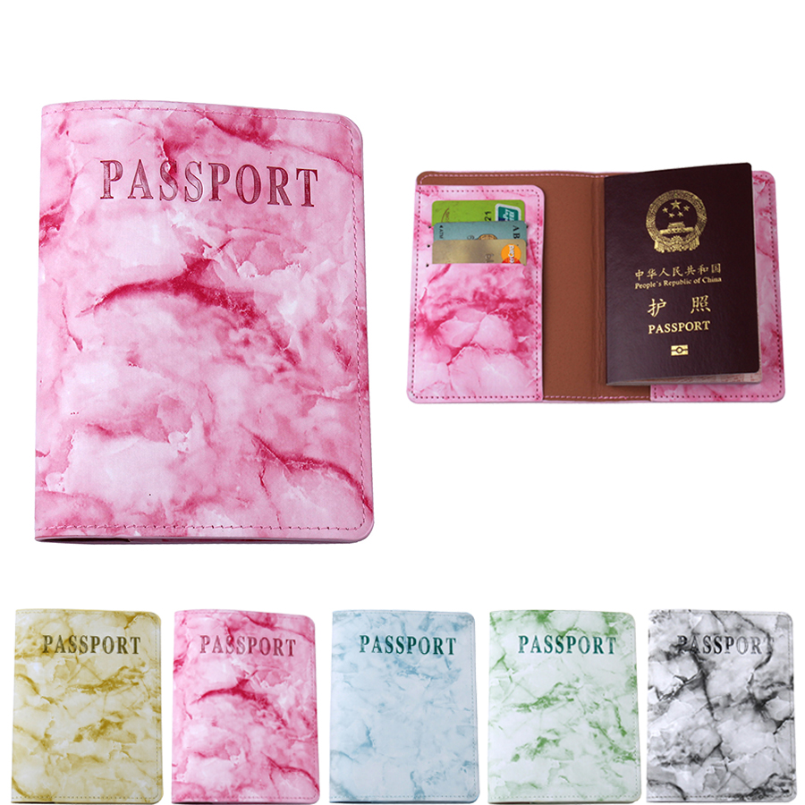 Stone Marble texture PU Leather Passport Cover For traveling Travel accessories organizer Card ticket Passport Holder CH13A