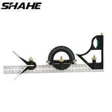 Shahe Multi Function Angleไม้บรรทัด 300 มม.มุมไม้บรรทัดไม้บรรทัดสแควร์ผสมไม้บรรทัดมุม