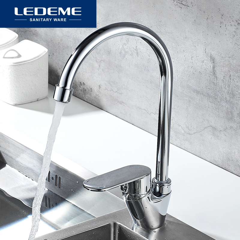 LEDEME Kitchen Faucet Chrome Water Saver Mixer Taps Flexible Sink Tap Torneira Do Banheiro Kitchen Faucets L5810