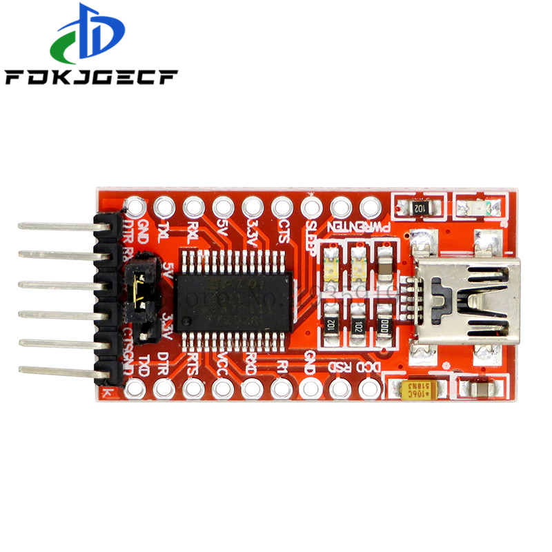 Последовательный преобразователь FTDI FT232RL USB в TTL, модуль адаптера 5 В и 3,3 В для Arduino