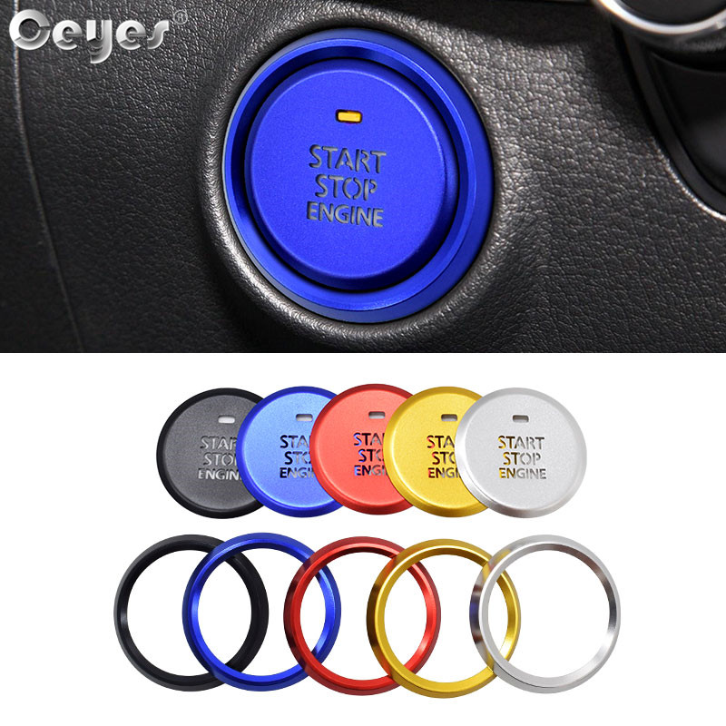 Ceyes Car Engine Start Stop Button Rings Styling Light Transmission Interior Accessories Stickers Case For Mazda 3 Axela Covers