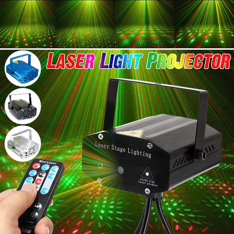 Mini 4in1 Pattern Effect Star Whirlwind Laser Projector  Disco DJ Club Bar KTV Family Party Light Show Disco Light