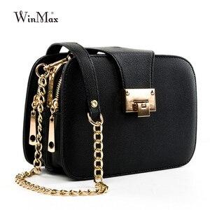 Image 3 - Women Spring Fashion Chain Shoulder Bags Brand Flap Designer 3 Layer Handbags Clutch Ladies Metal Buckle Crossbody Messenger Bag