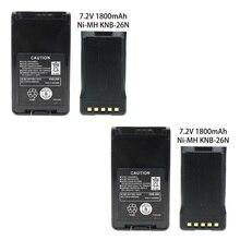 2 Pcs 7.2v 1800mAh NiCd Two-way Radio Battery Extended Replacement for Kenwood KNB-25 KNB-26 KNB-25A KNB-26N TK-2170 TK-3170